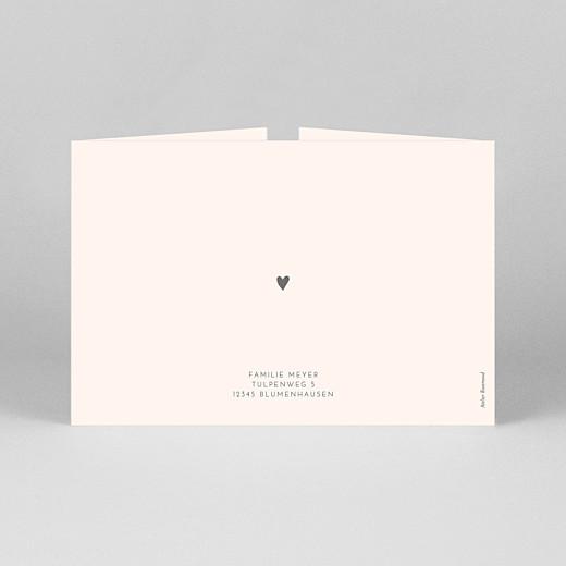 Geburtskarten Elegant herz (duo querformat) rosa - Ansicht 3
