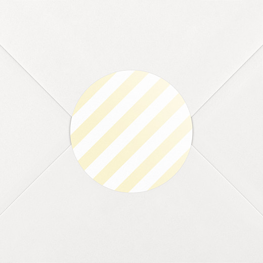 Aufkleber Geburt Pastellstreifen gelb - Ansicht 2