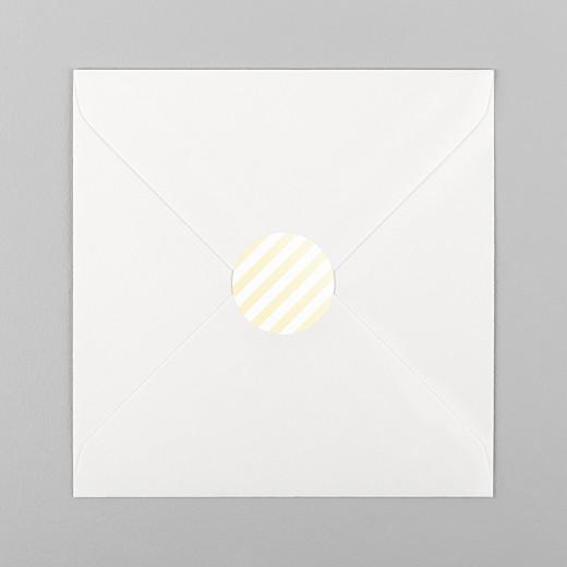 Aufkleber Geburt Pastellstreifen gelb - Ansicht 1