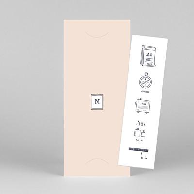 Geburtskarten kleinkram (fotostreifen) rosa