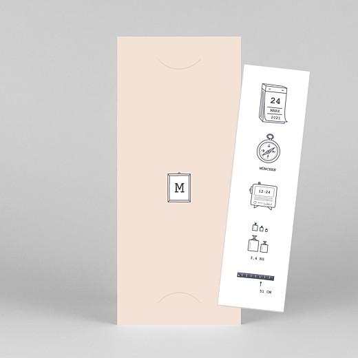 Geburtskarten Kleinkram (fotostreifen) rosa - Ansicht 1