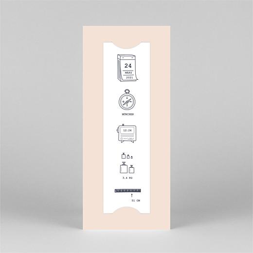 Geburtskarten Kleinkram (fotostreifen) rosa - Ansicht 2