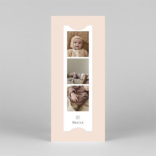 Geburtskarten Kleinkram (fotostreifen) rosa - Ansicht 3