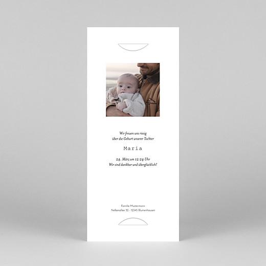 Geburtskarten Kleinkram (fotostreifen) blau - Ansicht 4