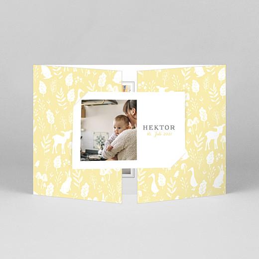 Geburtskarten Fabelhaft (duo hoch) gelb - Ansicht 1