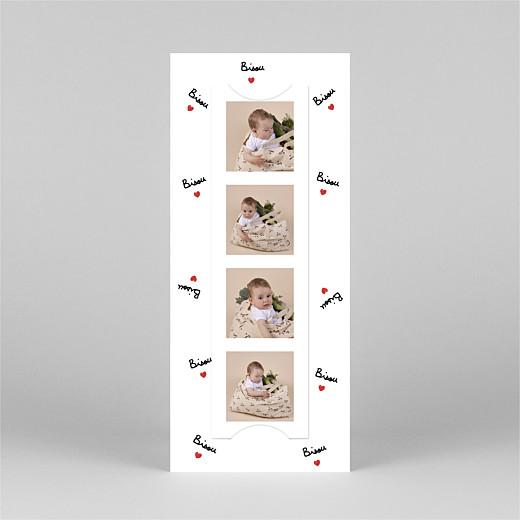 Geburtskarten Bisou by mathilde cabanas (fotostreifen) rot - Ansicht 3