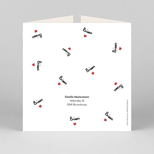 Geburtskarten Bisou by mathilde cabanas (duo) rot - Ansicht 3