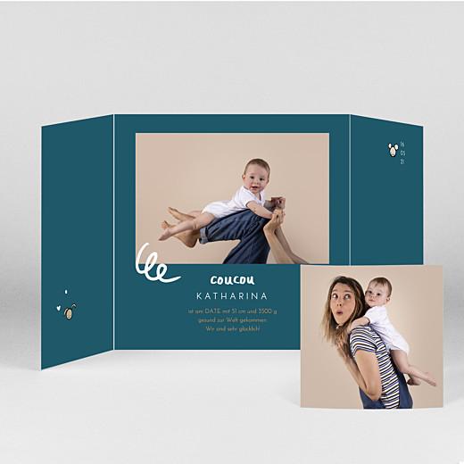 Geburtskarten Coucou by mathilde cabanas (duo) blau - Ansicht 2