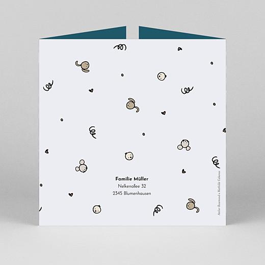 Geburtskarten Coucou by mathilde cabanas (duo) blau - Ansicht 3
