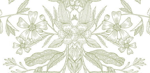 Platzkarte Blütenspiegelung gruen - Seite 2