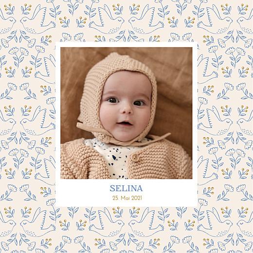 Geburtskarten Gute nachricht blau