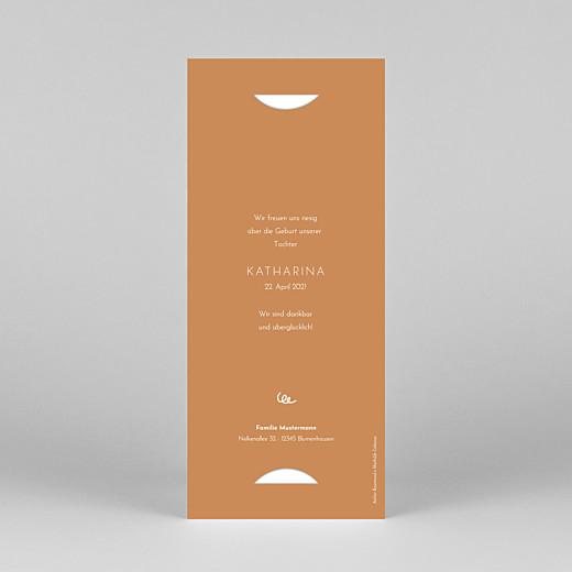 Geburtskarten Coucou by mathilde cabanas (fotostreifen) grün orange - Ansicht 4