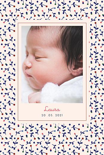 Geburtskarten Liberty beere blau