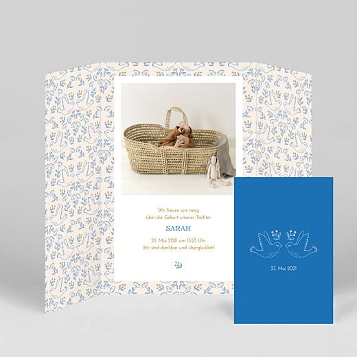 Geburtskarten Gute nachricht (duo) blau - Ansicht 2