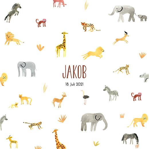 Geburtskarten Safari weiß