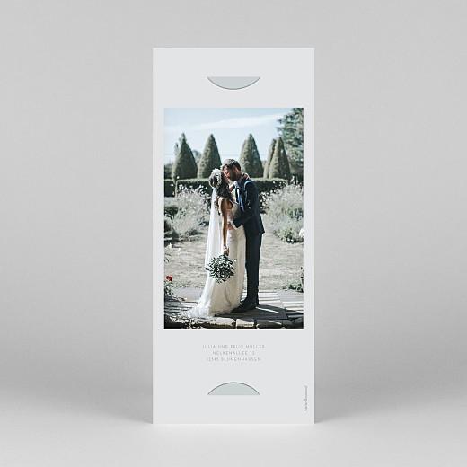 Dankeskarten Hochzeit Elegant herz (fotostreifen) blau - Ansicht 4