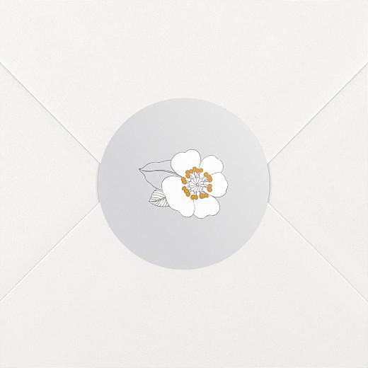 Aufkleber Geburt Blumenkrone grau - Ansicht 2