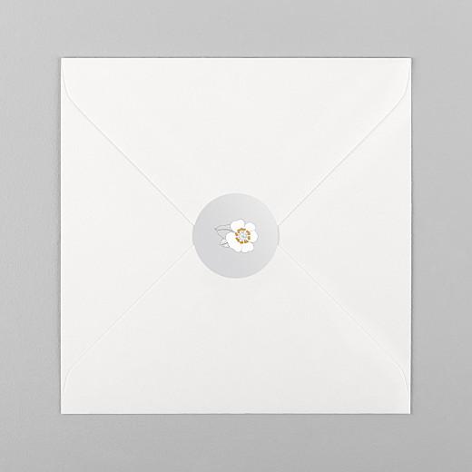 Aufkleber Geburt Blumenkrone grau - Ansicht 1