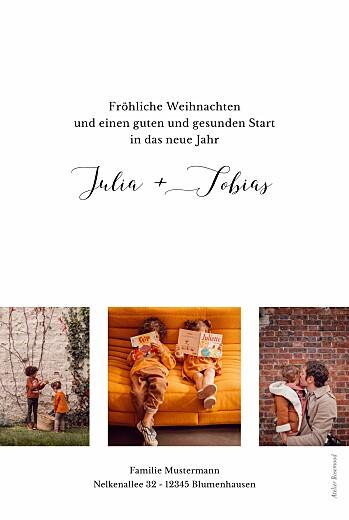 Weihnachtskarten Kleines großes jahr weiß - Seite 2