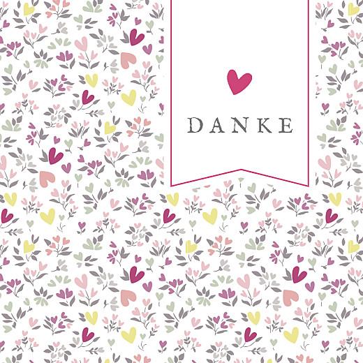 Dankeskarten Liberty herz rosa