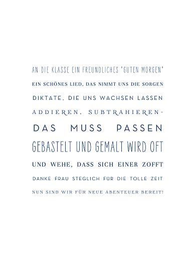 Poster groß Danke frau lehrerin! weiß - Seite 1