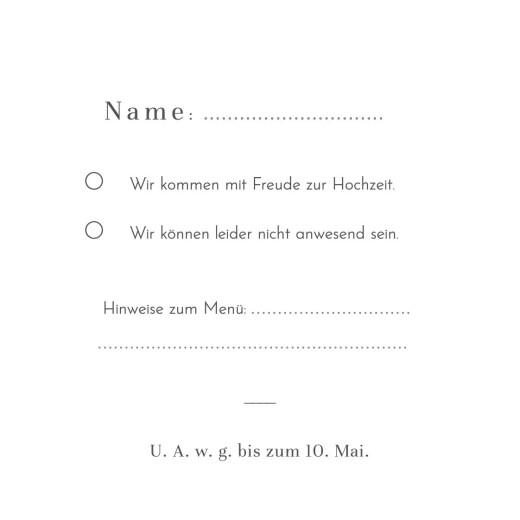 Antwortkarte Hochzeit Paradiesvogel blau - Seite 2