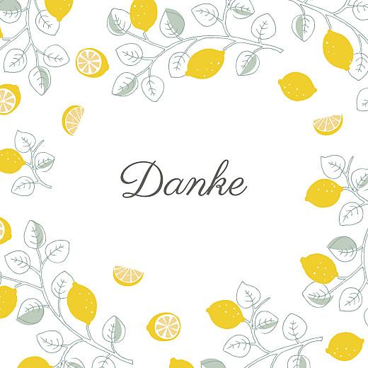 Dankeskarten Zitronen gelb