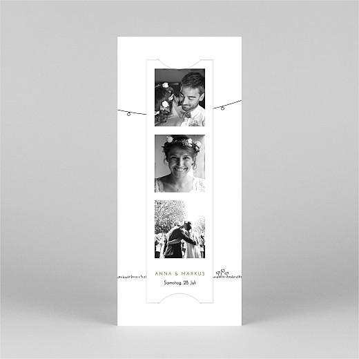Dankeskarten Hochzeit Sommerhochzeit (fotostreifen) weiß - Ansicht 2