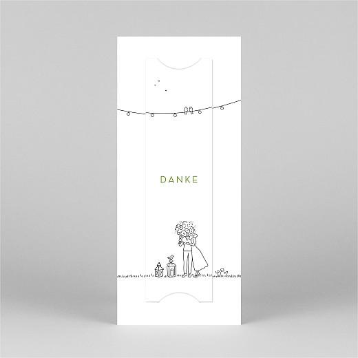 Dankeskarten Hochzeit Sommerhochzeit (fotostreifen) weiß - Ansicht 3