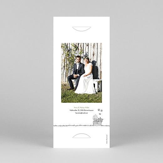 Dankeskarten Hochzeit Sommerhochzeit (fotostreifen) weiß - Ansicht 4