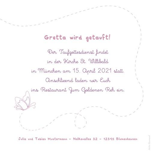 Taufeinladungen Schmetterling foto rosa - Seite 2