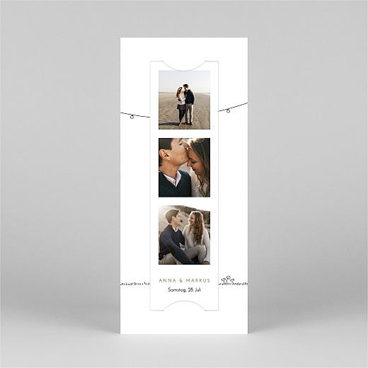 Hochzeitseinladungen Sommerhochzeit (fotostreifen) weiß - Ansicht 2