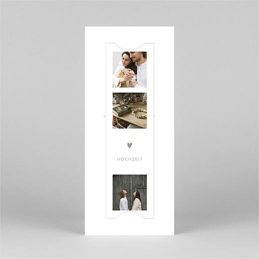 Hochzeitseinladungen Elegant herz (fotostreifen) weiß - Ansicht 2
