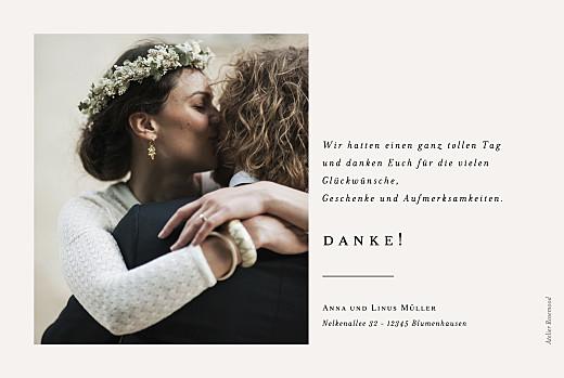 Dankeskarten Hochzeit Zarter ast beige - Seite 2