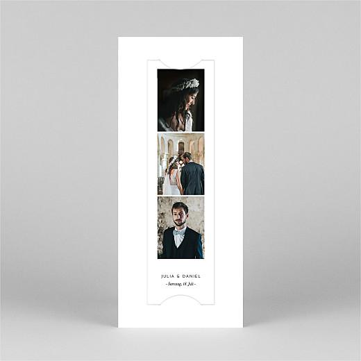 Dankeskarten Hochzeit Botanik (fotostreifen) weiß - Ansicht 2