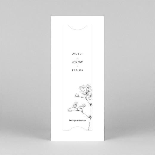 Dankeskarten Hochzeit Botanik (fotostreifen) weiß - Ansicht 3