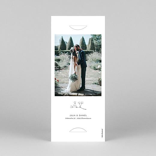 Dankeskarten Hochzeit Botanik (fotostreifen) weiß - Ansicht 4