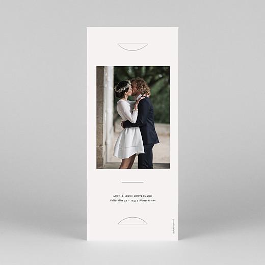 Dankeskarten Hochzeit Zarter ast (fotostreifen) beige - Ansicht 4
