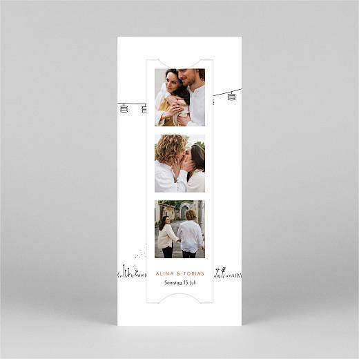 Hochzeitseinladungen Feldhochzeit (fotostreifen) weiß - Ansicht 2