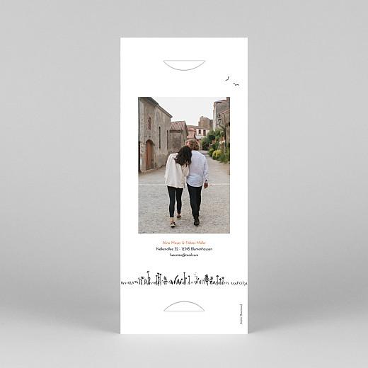 Hochzeitseinladungen Feldhochzeit (fotostreifen) weiß - Ansicht 4