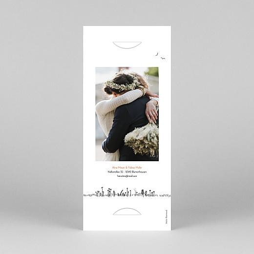 Dankeskarten Hochzeit Feldhochzeit (fotostreifen) weiß - Ansicht 4