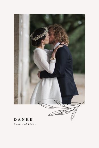 Dankeskarten Hochzeit Zarter arst beige