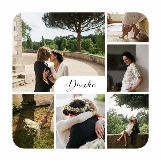 Dankeskarten Hochzeit Raffinesse (fotos) weiß