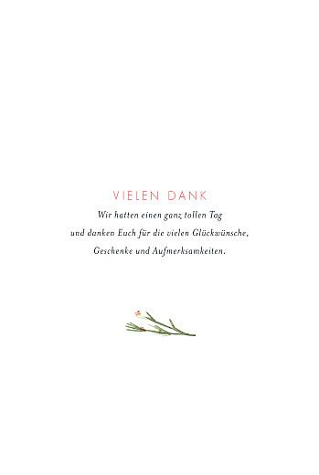 Dankeskarten Hochzeit Blumen aquarell beige - Seite 3