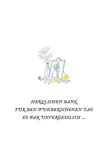 Dankeskarten Hochzeit Blütenzauber (klappkarte) weiß - Seite 3