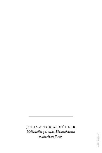 Dankeskarten Hochzeit Blütenzauber (klappkarte) weiß - Seite 4