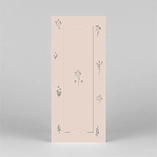 Geburtskarten Floral minimal (fotostreifen) rosa - Ansicht 3