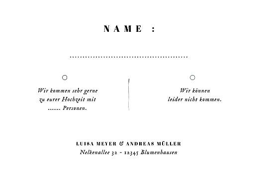 Antwortkarte Hochzeit Floral minimal weiß - Seite 2