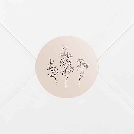 Aufkleber Geburt Floral minimal rosa - Ansicht 2