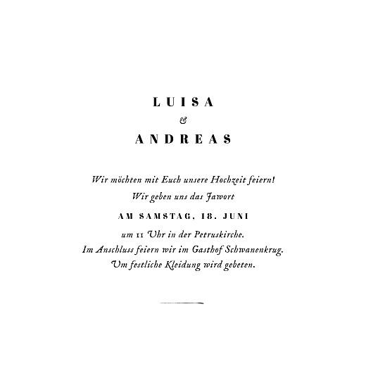 Hochzeitseinladungen Floral minimal (klappkarte) weiß - Seite 3